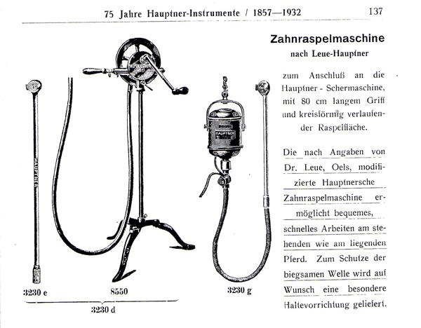 Zahnraspelmaschine von 1912